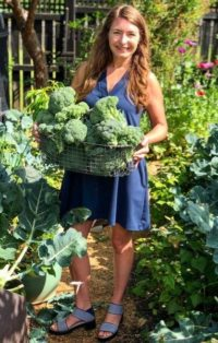 Brie Arthur in garden