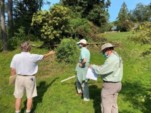 SEP Team (L to R) Jeff Schmidt, Diane Smith, and Steve Mosier evaluating a property